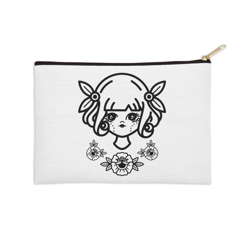 makoto girl Accessories Zip Pouch by 3lw's Artist Shop