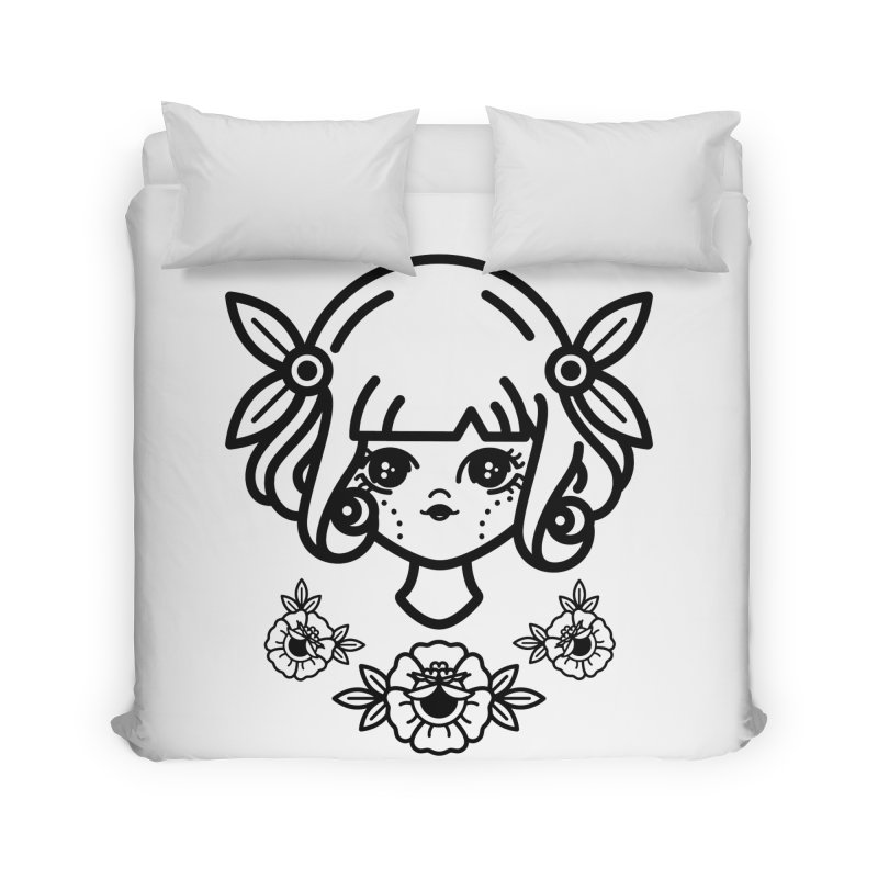 makoto girl Home Duvet by 3lw's Artist Shop