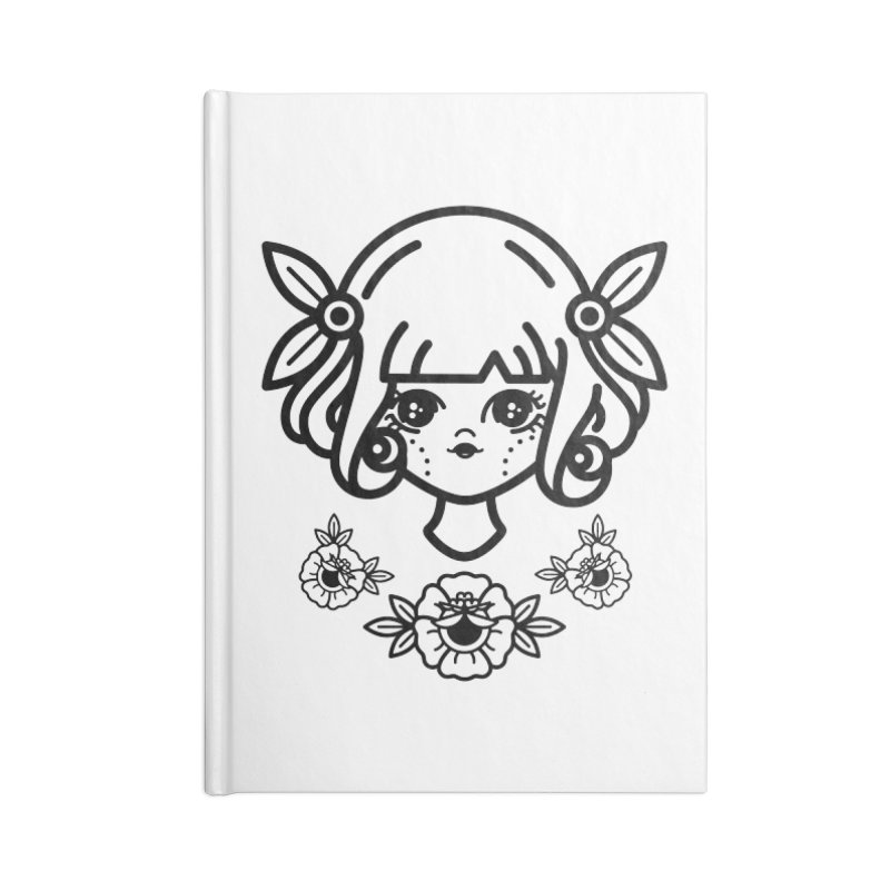 makoto girl Accessories Lined Journal Notebook by Cristóbal Urrea
