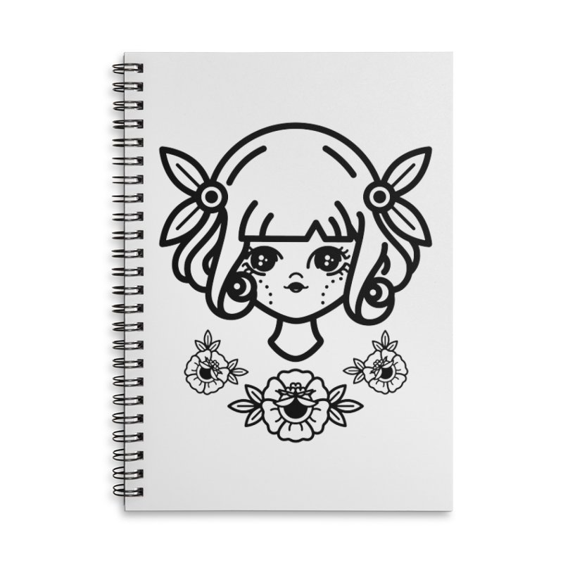 makoto girl Accessories Lined Spiral Notebook by Cristóbal Urrea