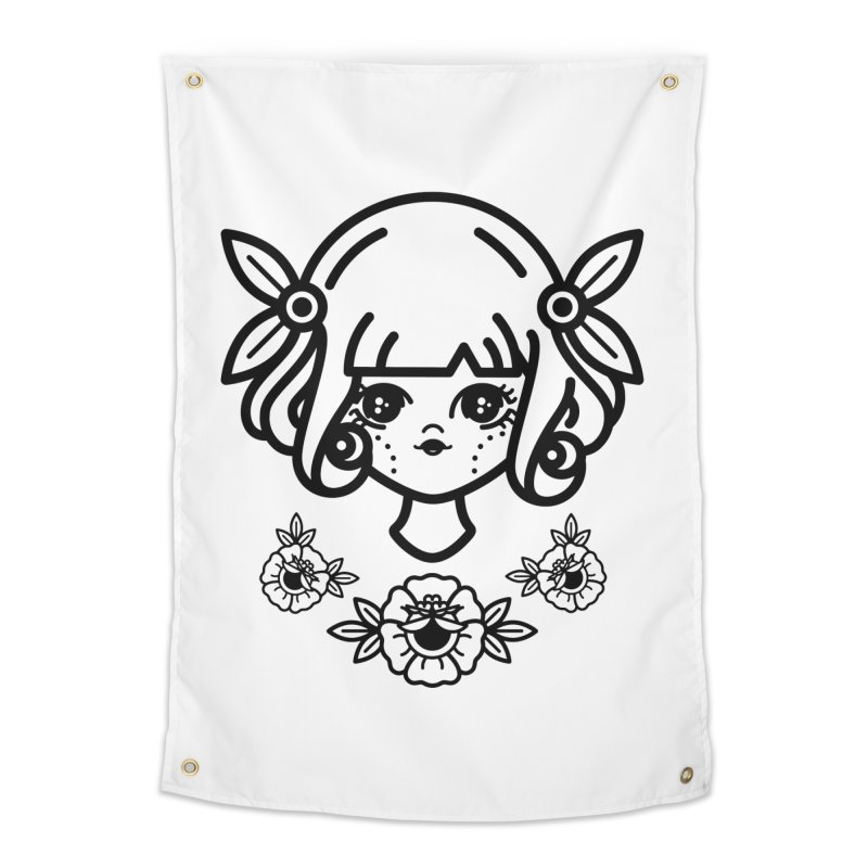 makoto girl Home Tapestry by 3lw's Artist Shop