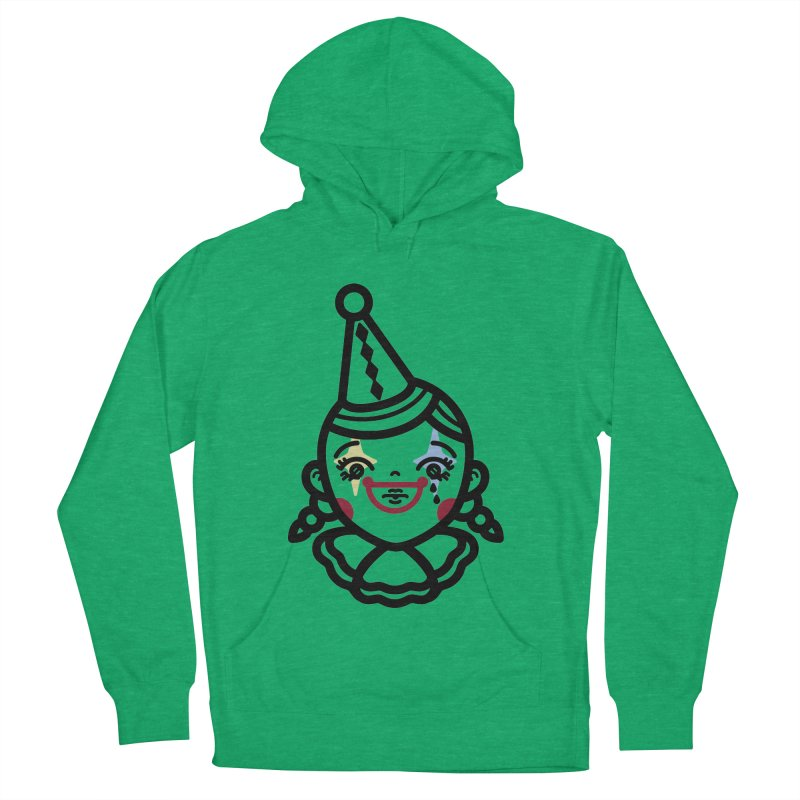don't cry little clown girl Men's French Terry Pullover Hoody by Cristóbal Urrea