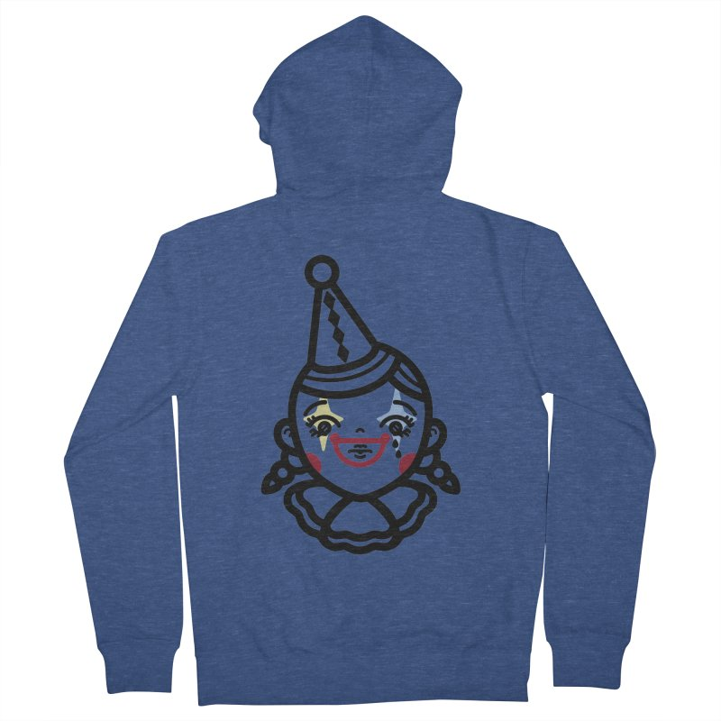 don't cry little clown girl Women's French Terry Zip-Up Hoody by Cristóbal Urrea