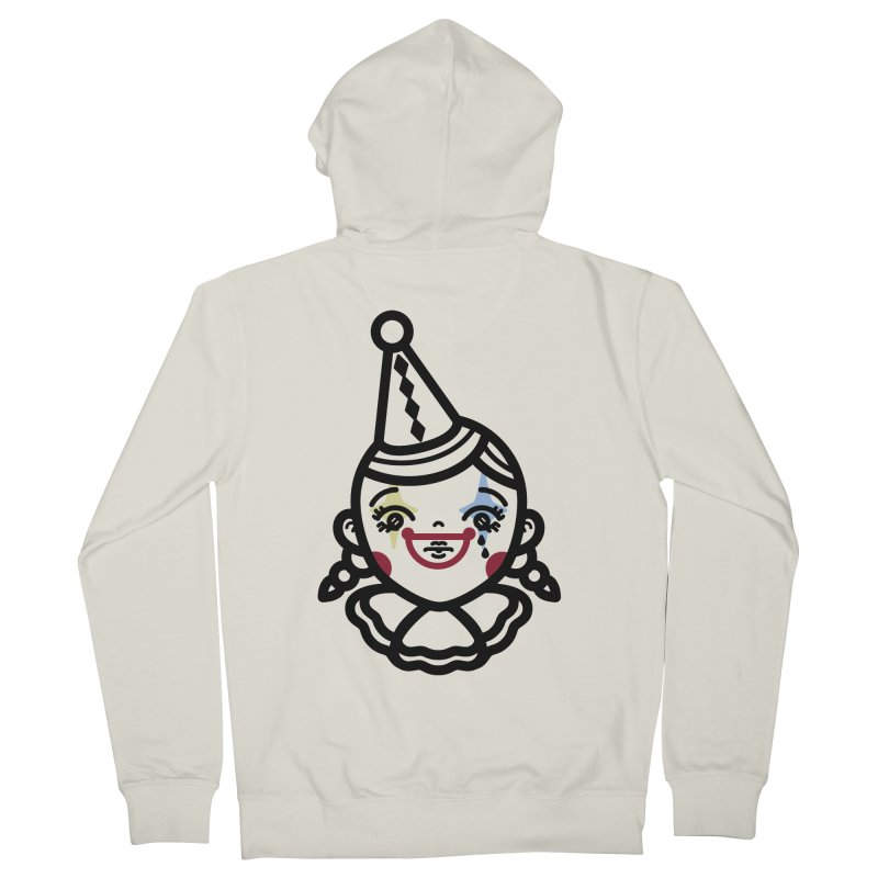 don't cry little clown girl Men's French Terry Zip-Up Hoody by Cristóbal Urrea