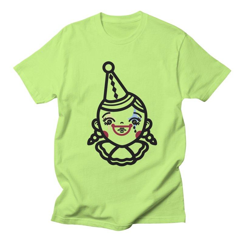 don't cry little clown girl Women's Regular Unisex T-Shirt by Cristóbal Urrea