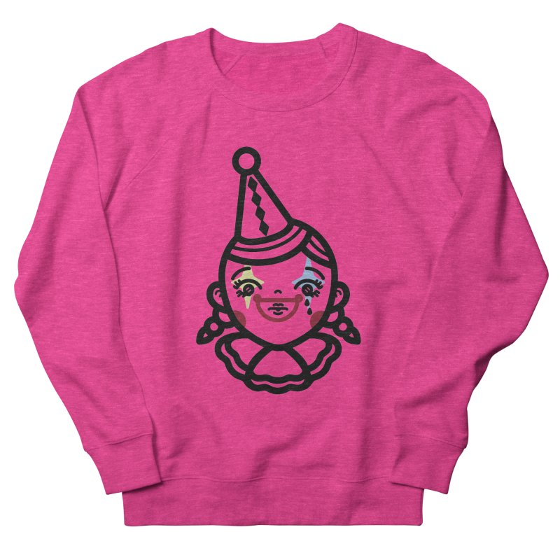 don't cry little clown girl Women's French Terry Sweatshirt by Cristóbal Urrea