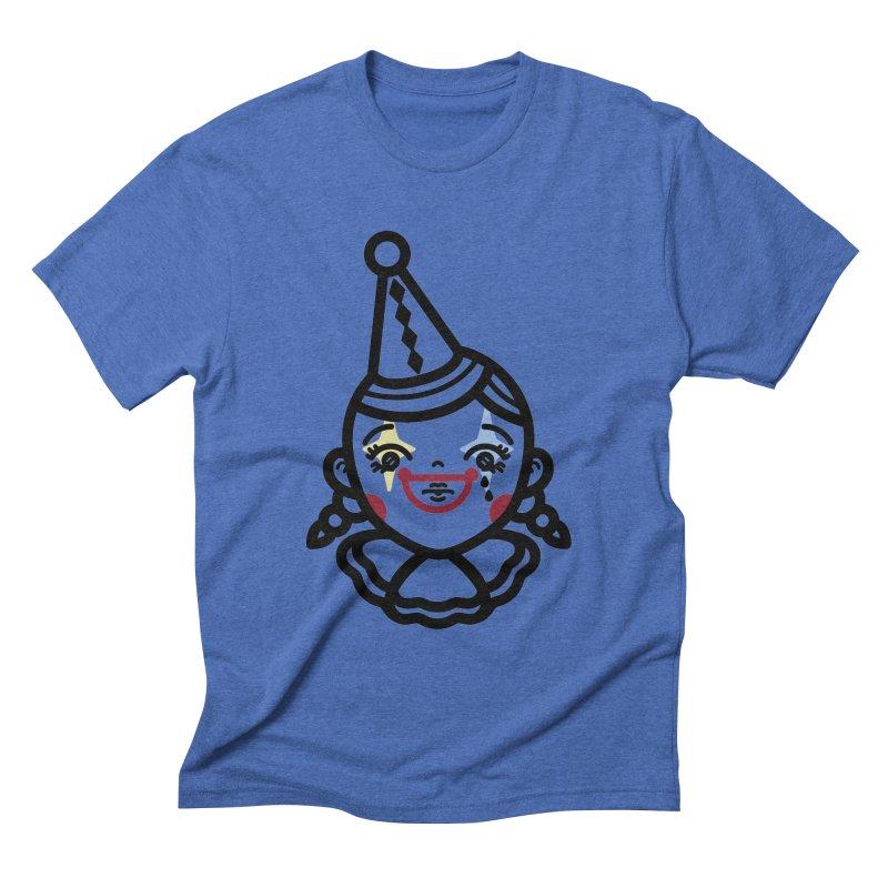 don't cry little clown girl Men's Triblend T-Shirt by 3lw's Artist Shop