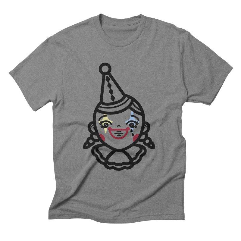 don't cry little clown girl Men's Triblend T-Shirt by Cristóbal Urrea