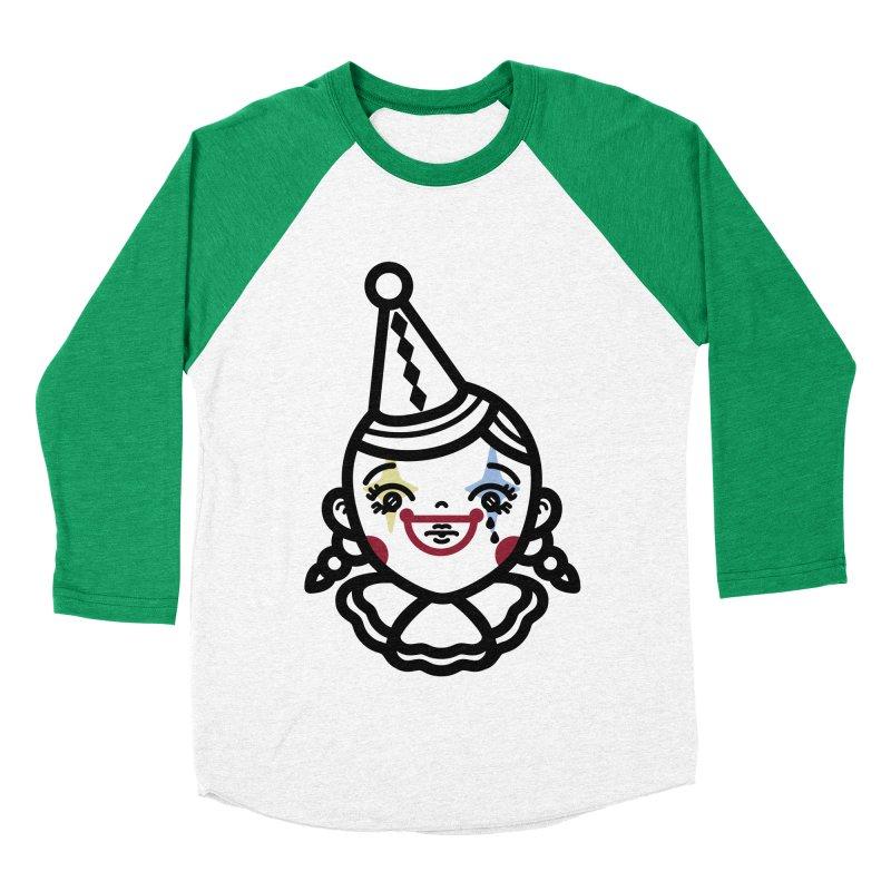 don't cry little clown girl Women's Baseball Triblend Longsleeve T-Shirt by Cristóbal Urrea