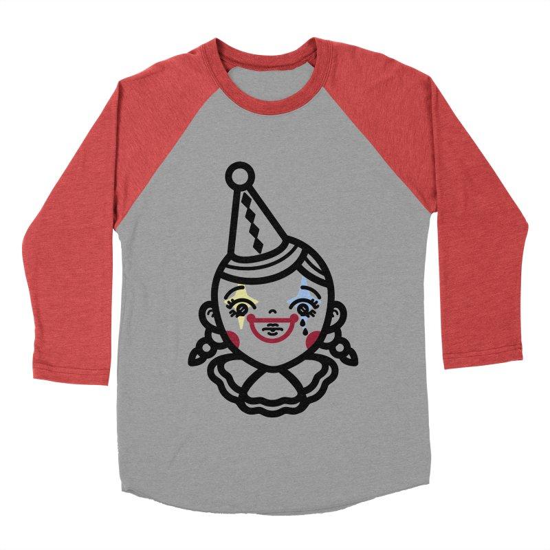 don't cry little clown girl Men's Baseball Triblend T-Shirt by 3lw's Artist Shop