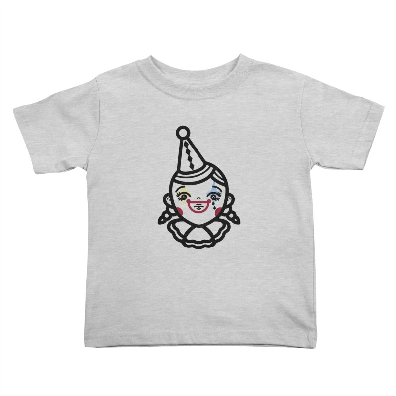 don't cry little clown girl Kids Toddler T-Shirt by 3lw's Artist Shop