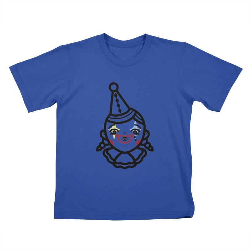 don't cry little clown girl Kids T-Shirt by 3lw's Artist Shop