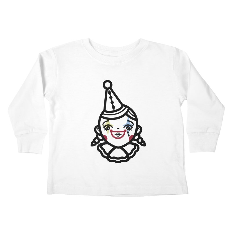 don't cry little clown girl Kids Toddler Longsleeve T-Shirt by 3lw's Artist Shop