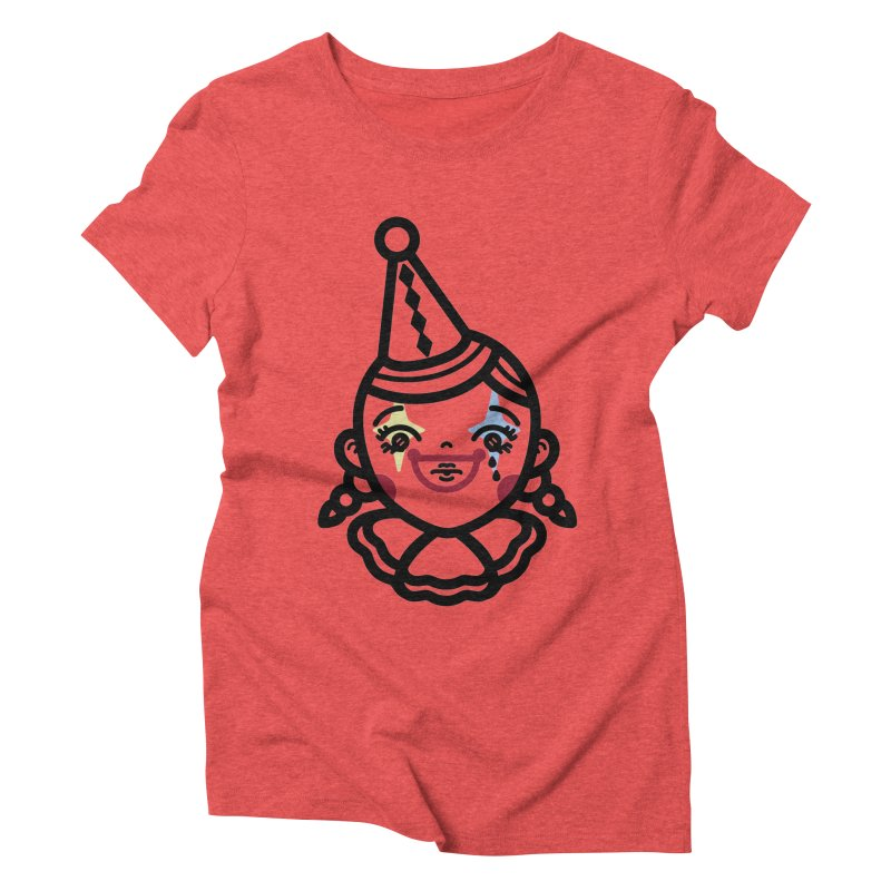 don't cry little clown girl Women's Triblend T-Shirt by Cristóbal Urrea