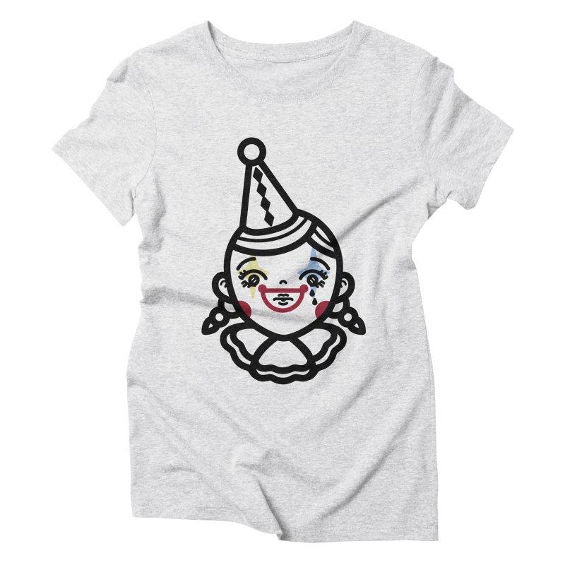 don't cry little clown girl Women's Triblend T-Shirt by Cristóbal Urrea