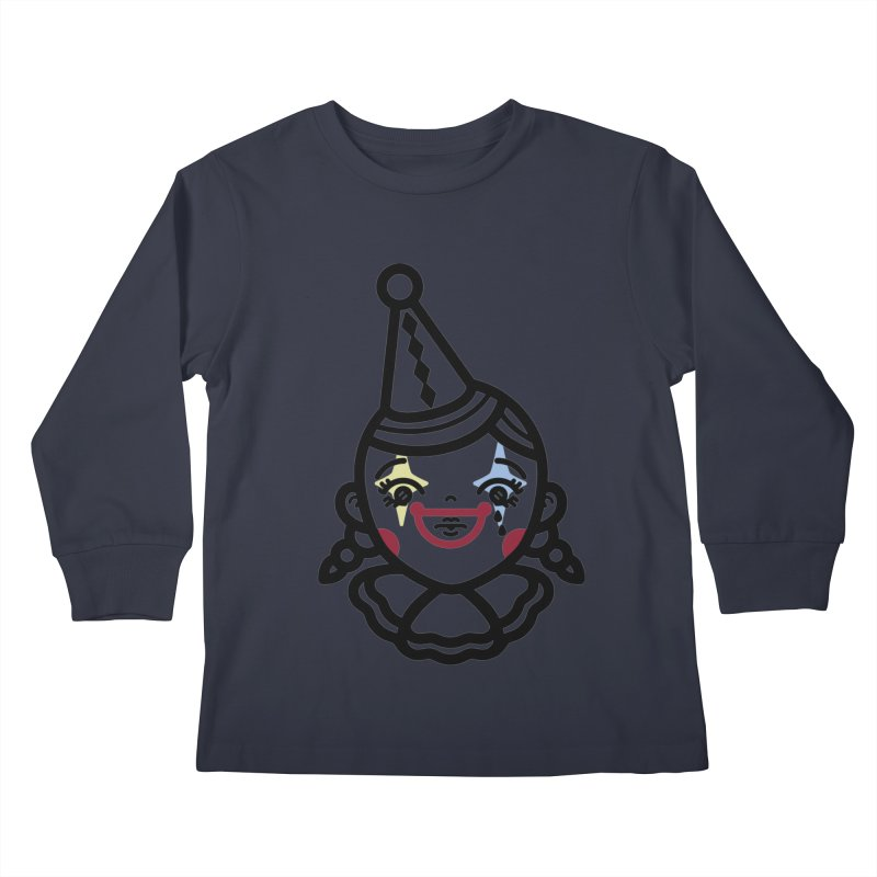 don't cry little clown girl Kids Longsleeve T-Shirt by Cristóbal Urrea