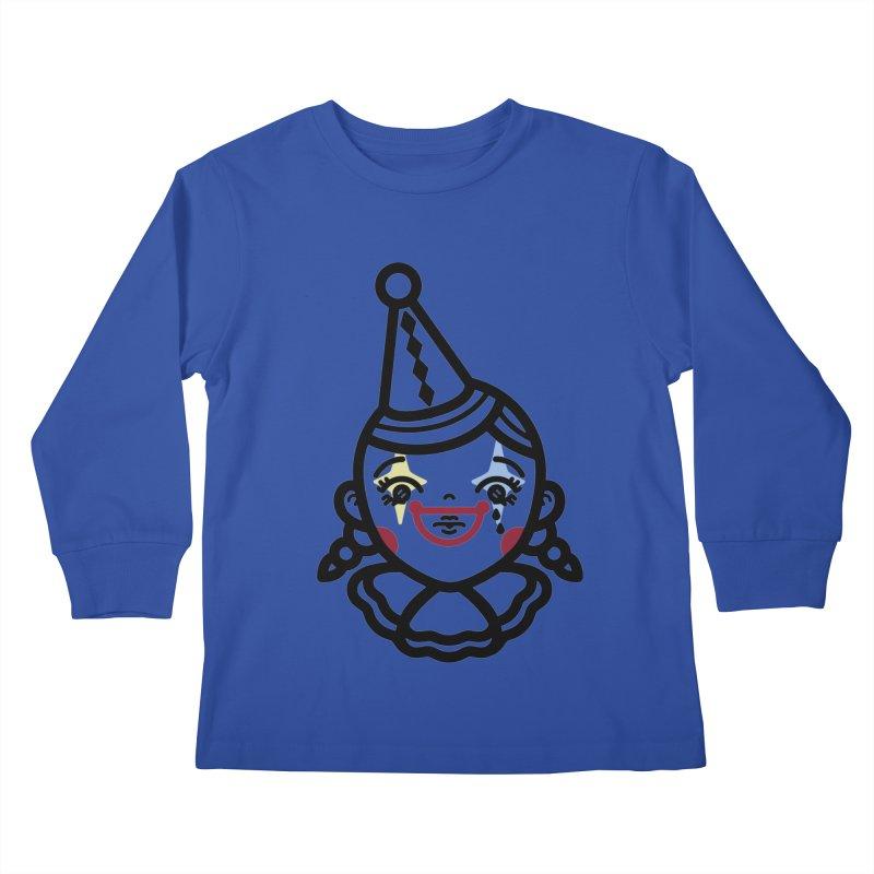 don't cry little clown girl Kids Longsleeve T-Shirt by 3lw's Artist Shop