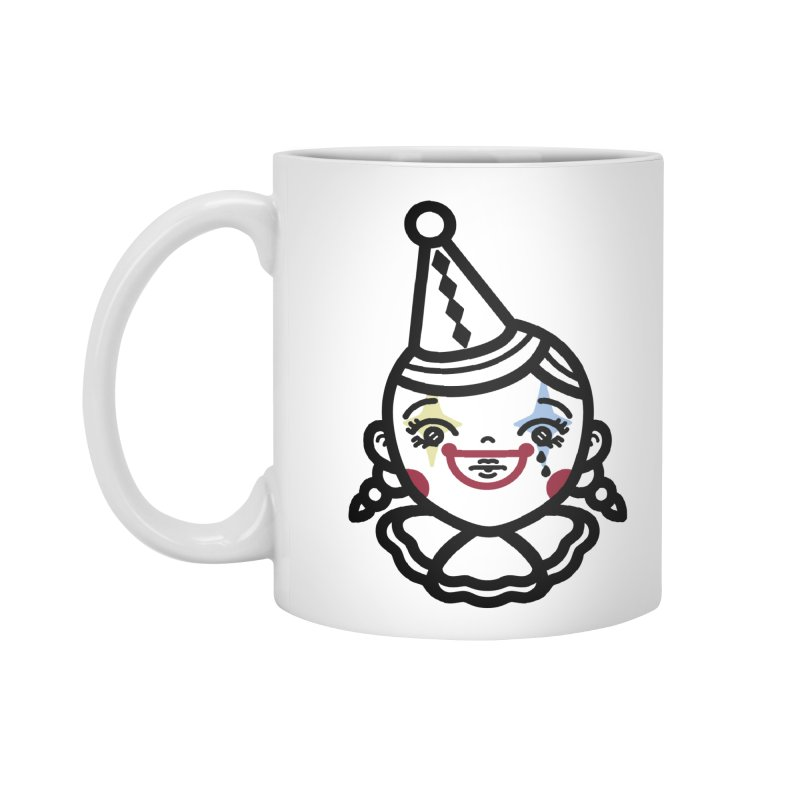 don't cry little clown girl Accessories Standard Mug by Cristóbal Urrea