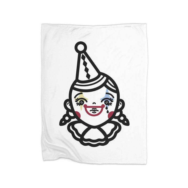 don't cry little clown girl Home Fleece Blanket Blanket by Cristóbal Urrea