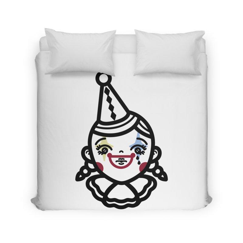 don't cry little clown girl Home Duvet by 3lw's Artist Shop
