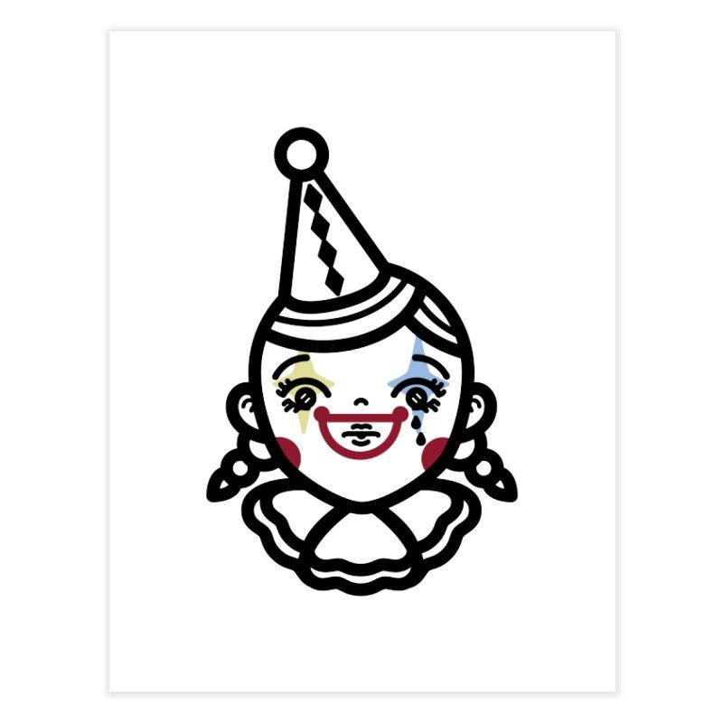 don't cry little clown girl Home Fine Art Print by 3lw's Artist Shop
