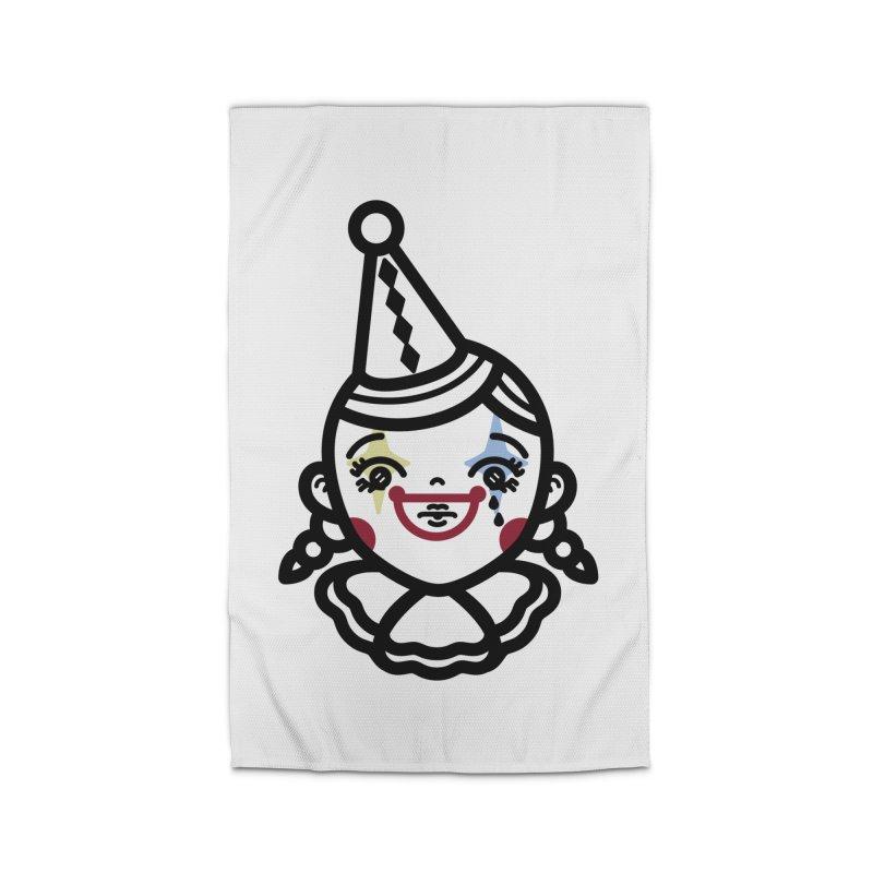 don't cry little clown girl Home Rug by Cristóbal Urrea