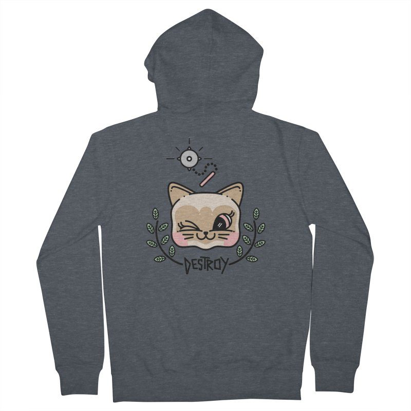 destroy kitty Women's Zip-Up Hoody by 3lw's Artist Shop