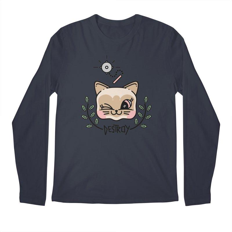 destroy kitty Men's Longsleeve T-Shirt by 3lw's Artist Shop