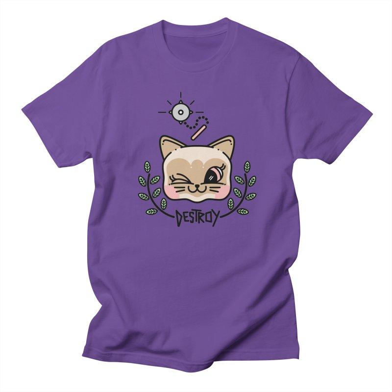 destroy kitty Women's Regular Unisex T-Shirt by 3lw's Artist Shop
