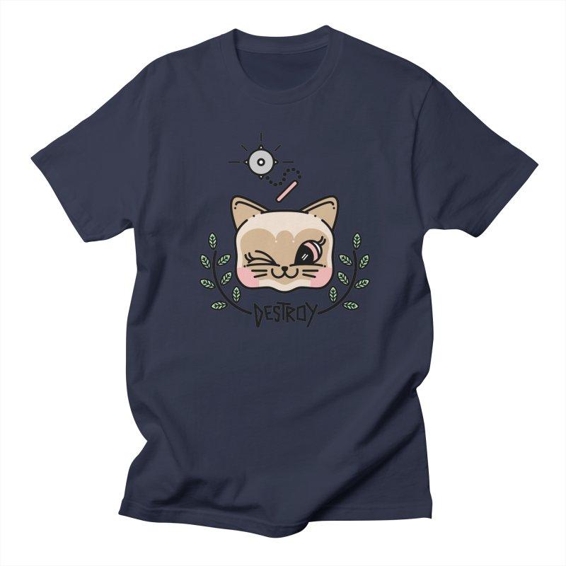 destroy kitty Women's Unisex T-Shirt by 3lw's Artist Shop