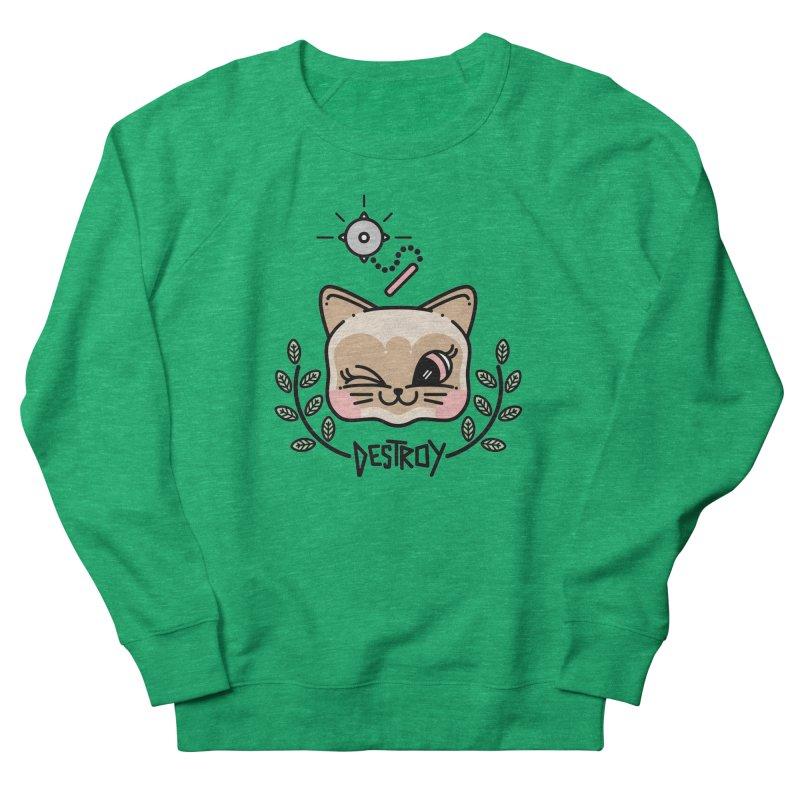destroy kitty Women's French Terry Sweatshirt by Cristóbal Urrea