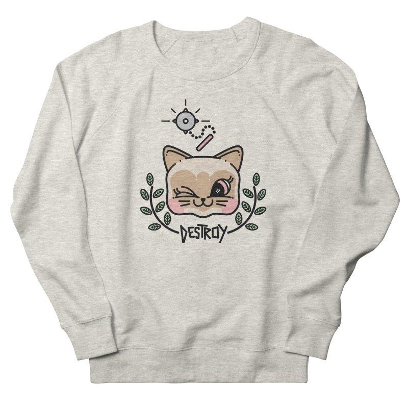 destroy kitty Women's French Terry Sweatshirt by 3lw's Artist Shop