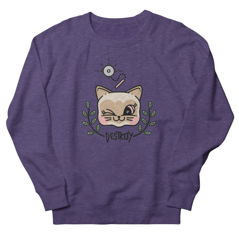 destroy kitty Men's French Terry Sweatshirt by Cristóbal Urrea