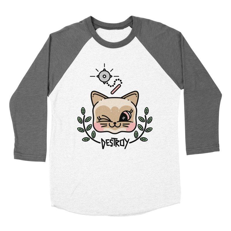 destroy kitty Women's Baseball Triblend T-Shirt by 3lw's Artist Shop