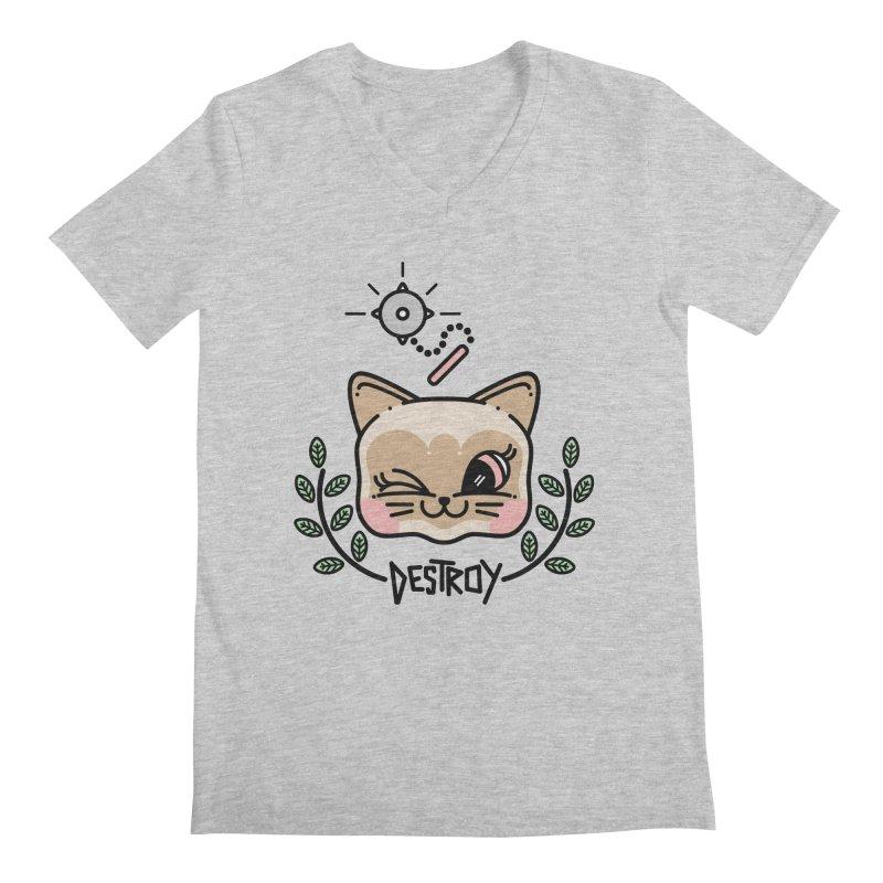 destroy kitty Men's V-Neck by 3lw's Artist Shop