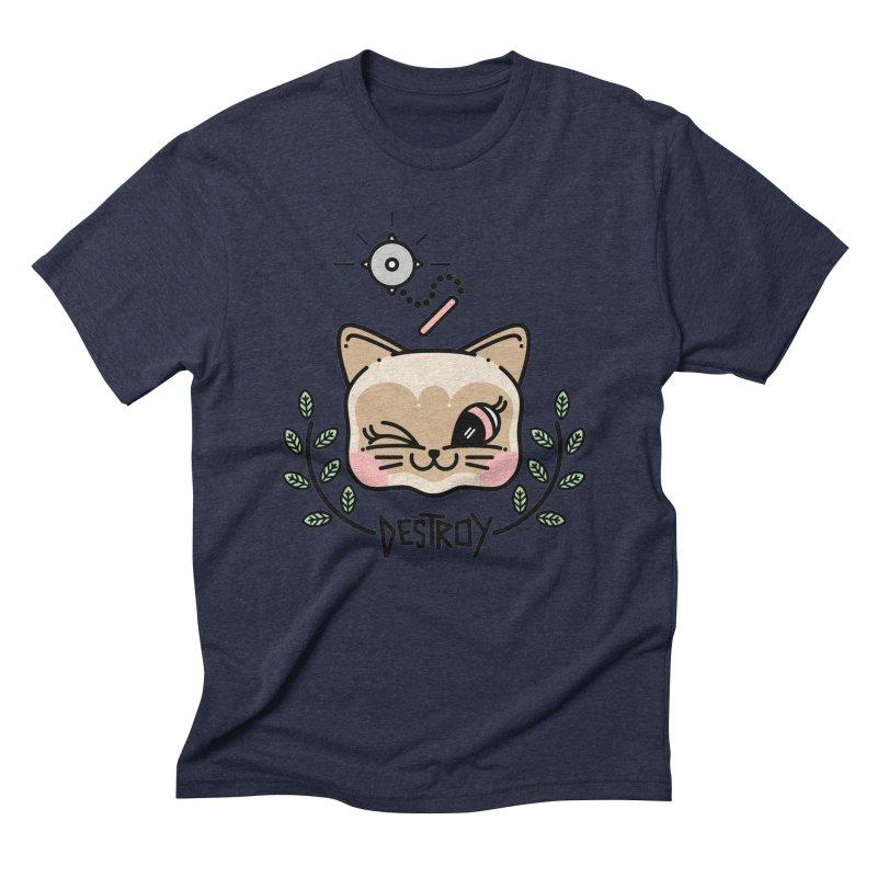 destroy kitty Men's Triblend T-shirt by 3lw's Artist Shop