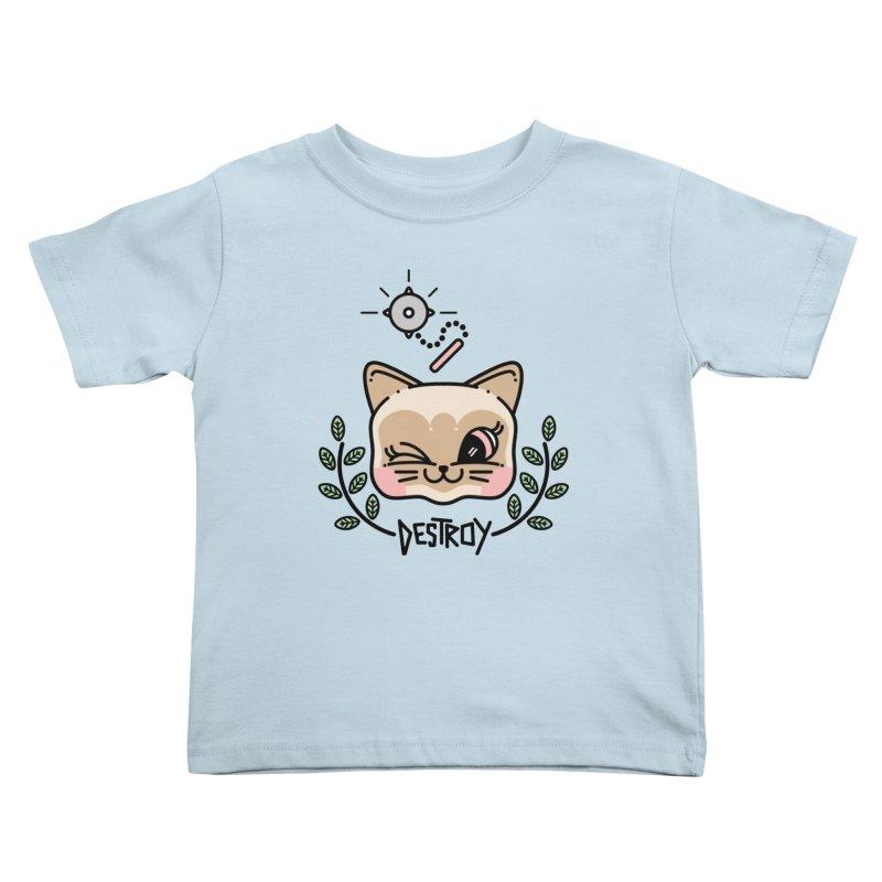 destroy kitty Kids Toddler T-Shirt by Cristóbal Urrea