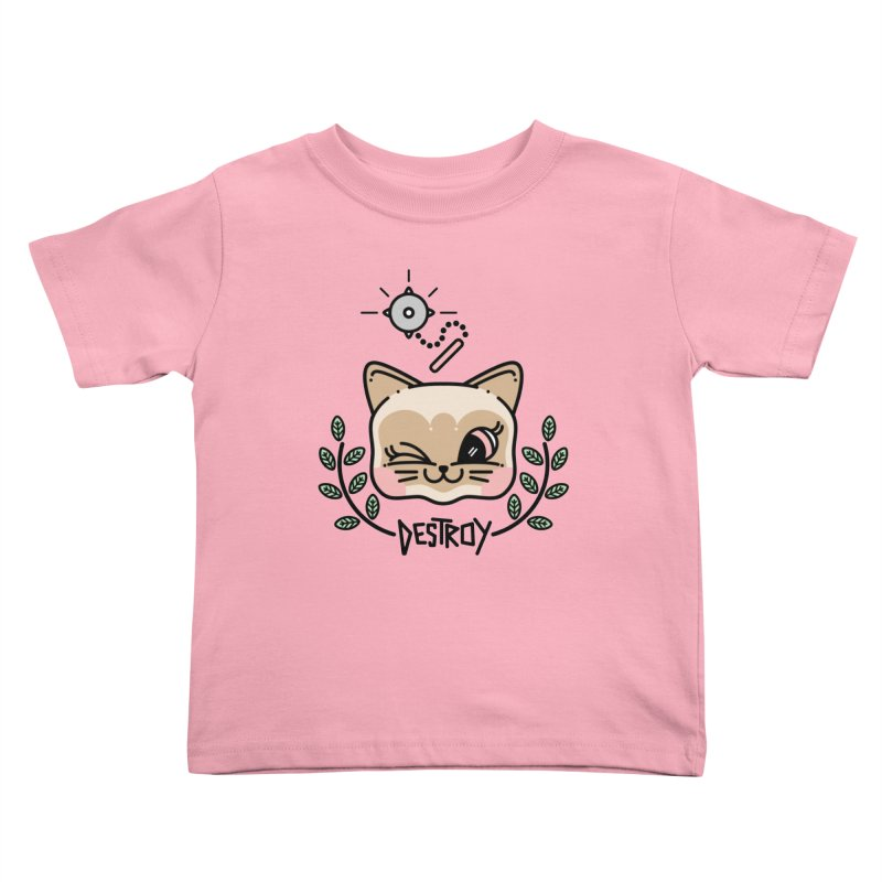 destroy kitty Kids Toddler T-Shirt by 3lw's Artist Shop