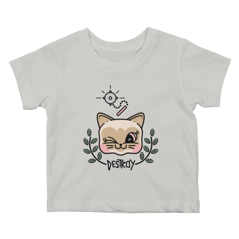destroy kitty Kids Baby T-Shirt by 3lw's Artist Shop