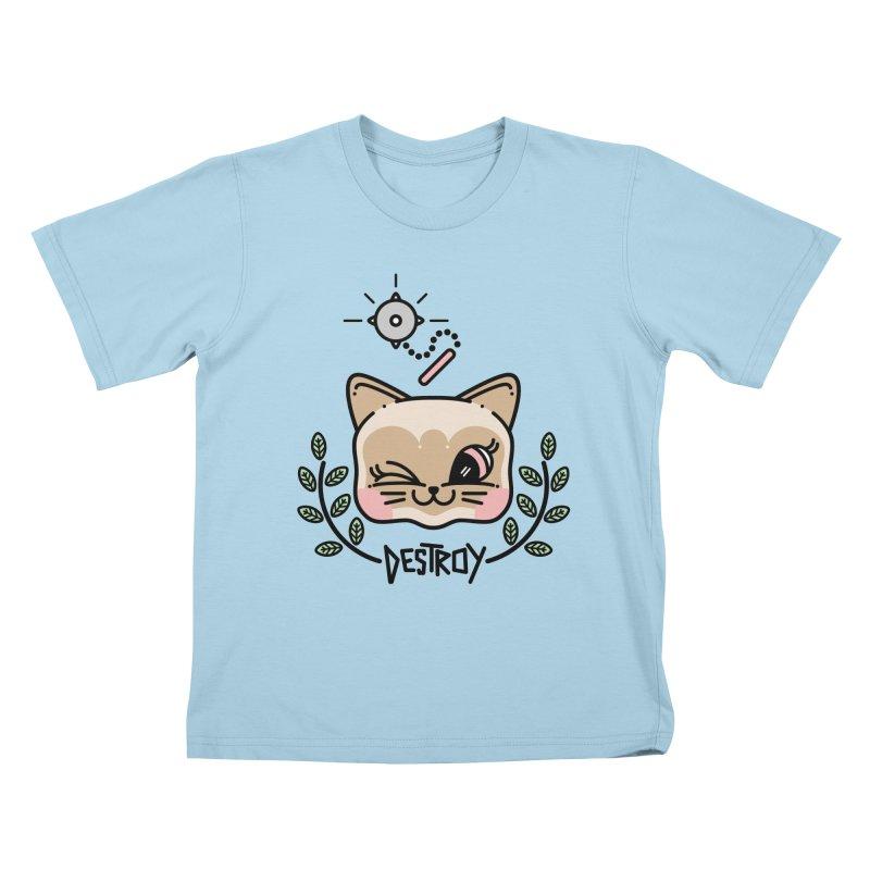 destroy kitty Kids T-Shirt by 3lw's Artist Shop