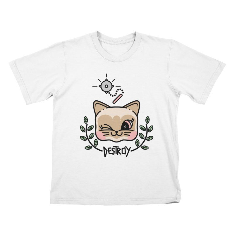 destroy kitty Kids T-Shirt by Cristóbal Urrea