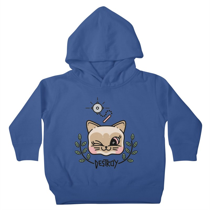 destroy kitty Kids Toddler Pullover Hoody by Cristóbal Urrea