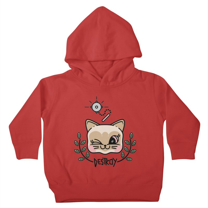 destroy kitty Kids Toddler Pullover Hoody by 3lw's Artist Shop