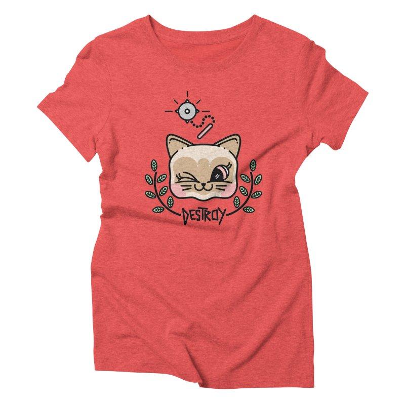 destroy kitty Women's Triblend T-shirt by 3lw's Artist Shop