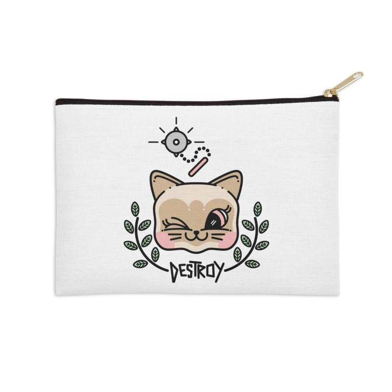 destroy kitty Accessories Zip Pouch by 3lw's Artist Shop