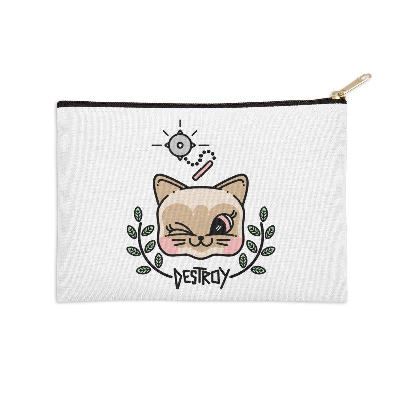 destroy kitty Accessories Zip Pouch by 3lw's Artist Shop
