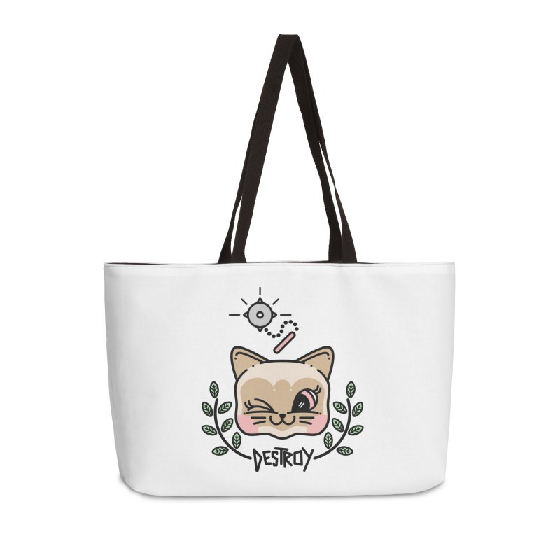 destroy kitty Accessories Weekender Bag Bag by Cristóbal Urrea
