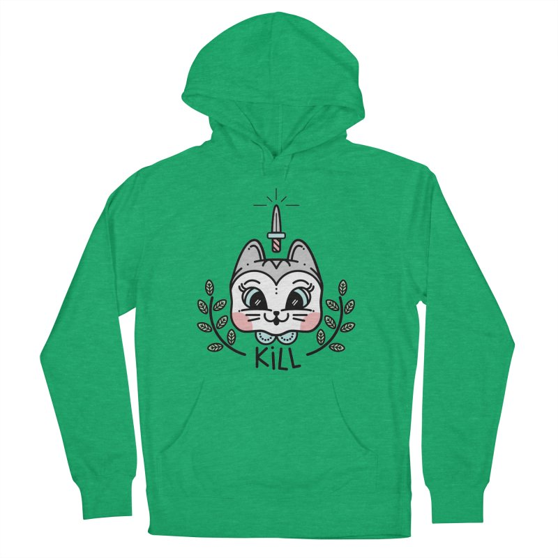 Kitty kill Men's Pullover Hoody by 3lw's Artist Shop