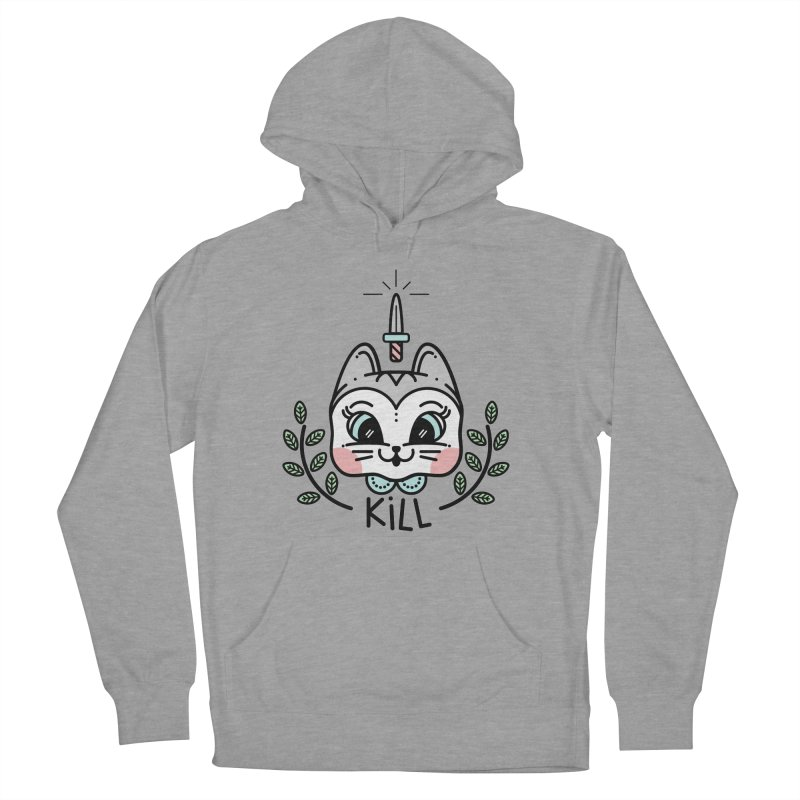 Kitty kill Men's French Terry Pullover Hoody by Cristóbal Urrea