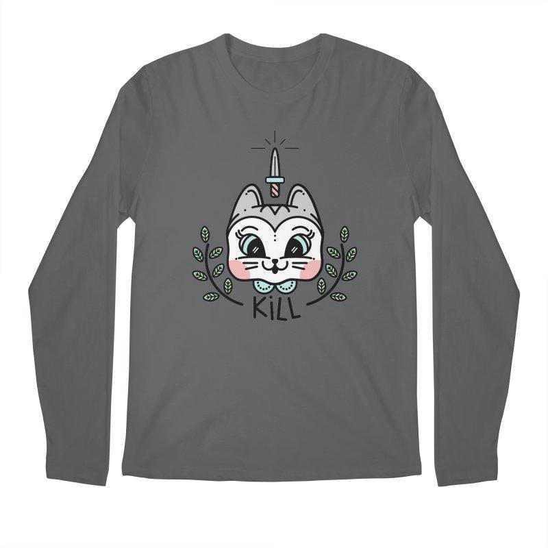Kitty kill Men's Regular Longsleeve T-Shirt by 3lw's Artist Shop